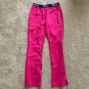 Greys anatomy active scrub pant pink small